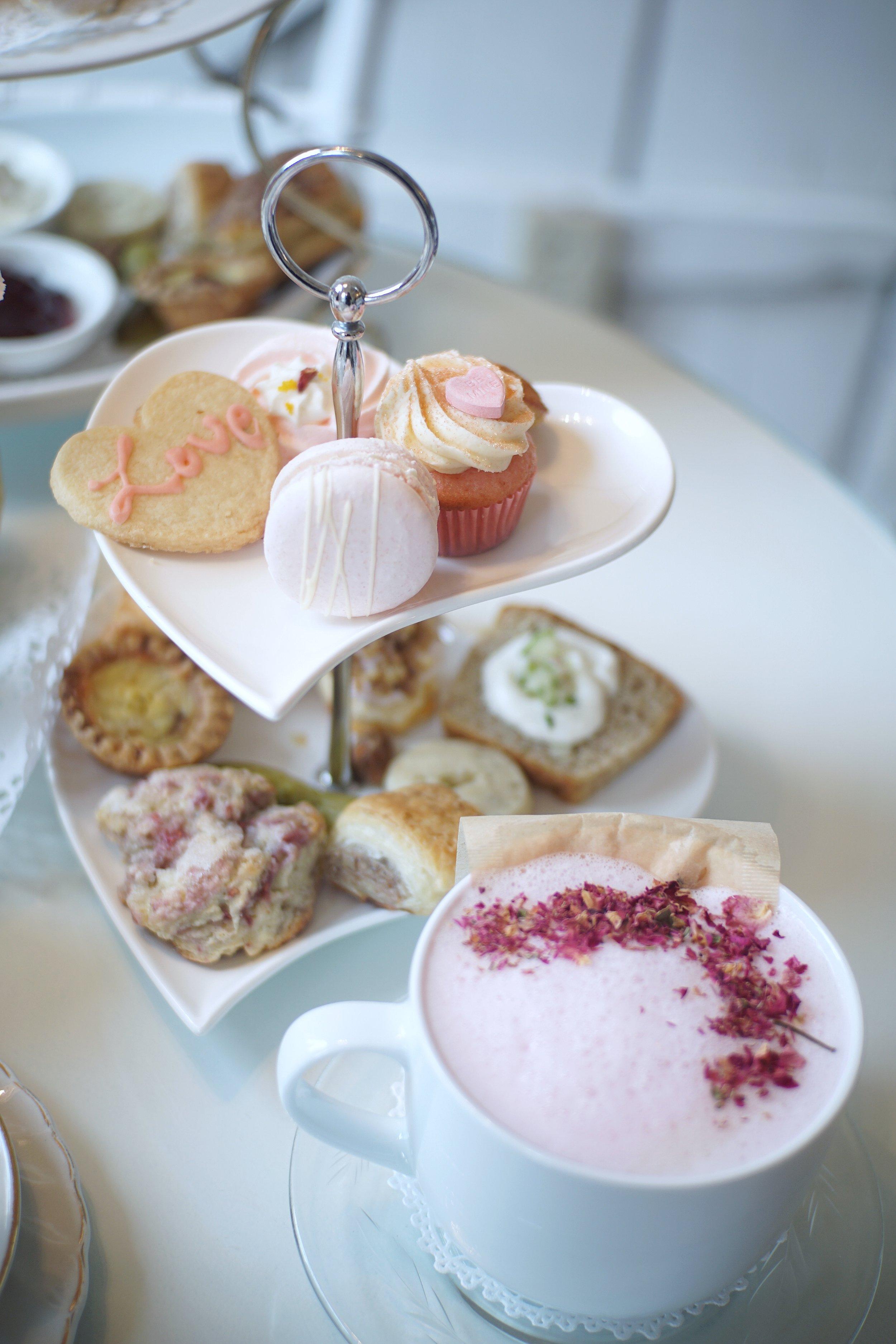 Pretty In Pink Valentine's Day tea set
