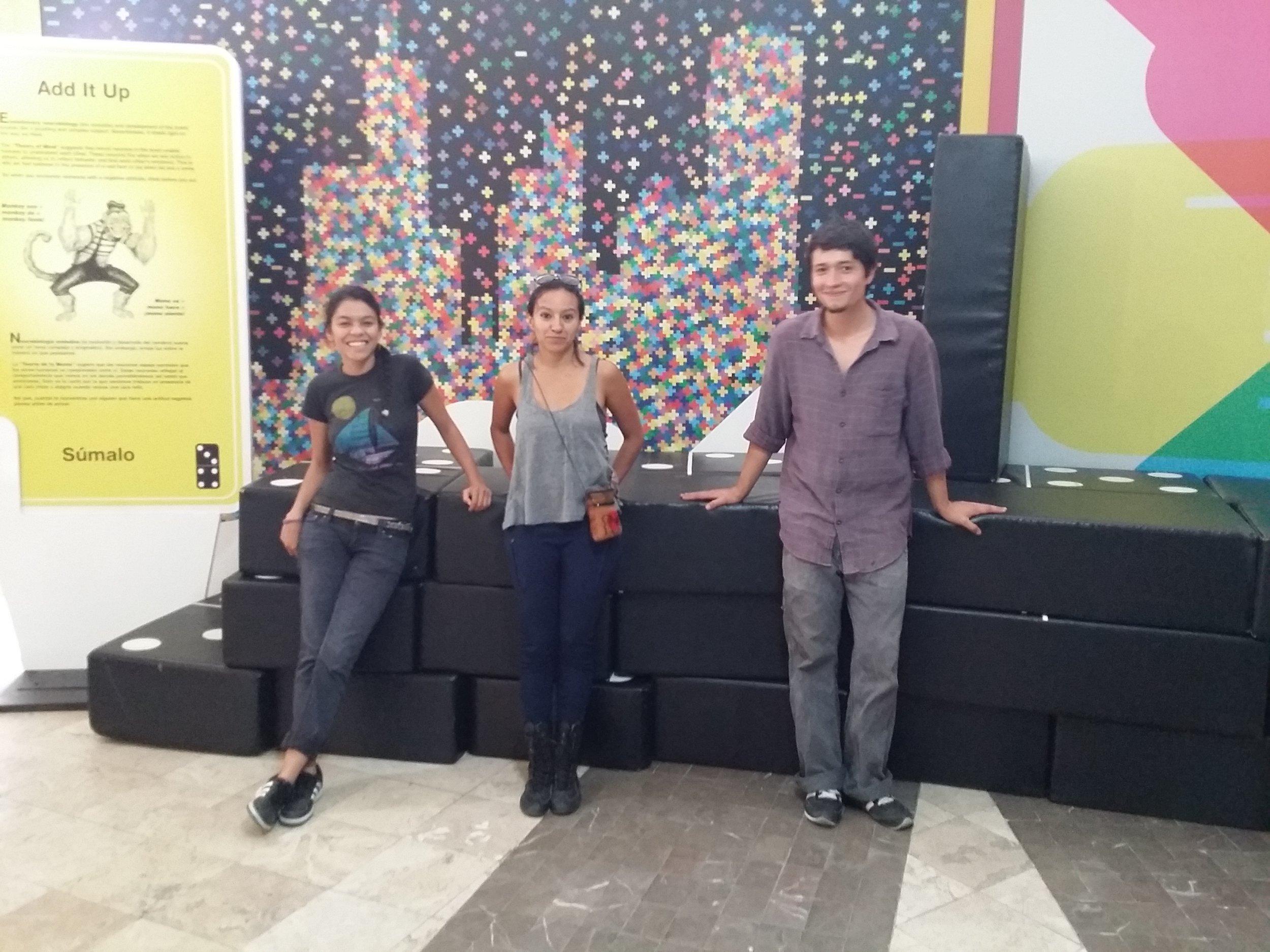 Facilitators at the PLAY installation in a public library in Cuernavaca, 2015.