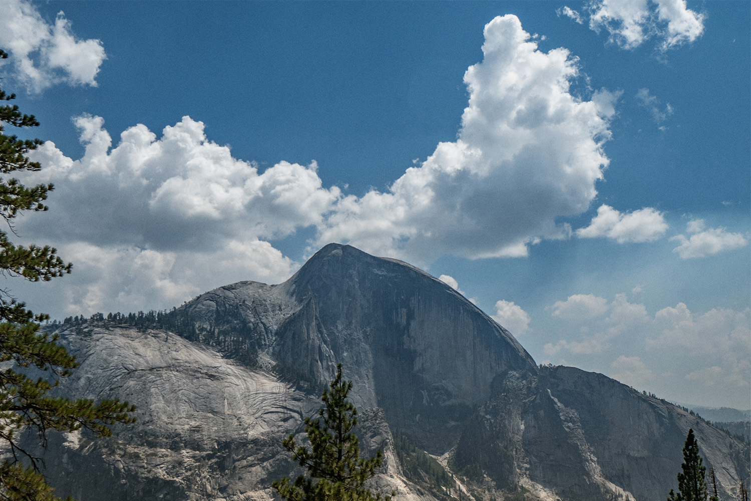 You could practically reach out and touch Half Dome from Snow Creek Trail.