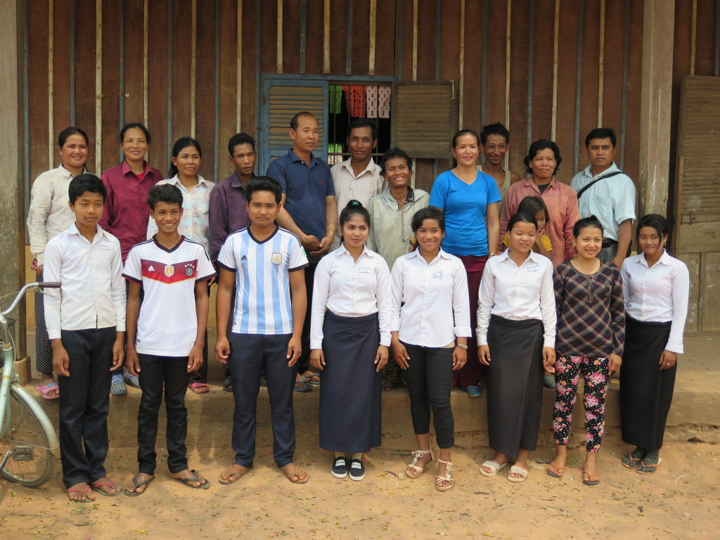 """The 8 students that CEF is supporting through the """"Giving Tuesday"""" fundraising event, their parents and mentor Hak."""