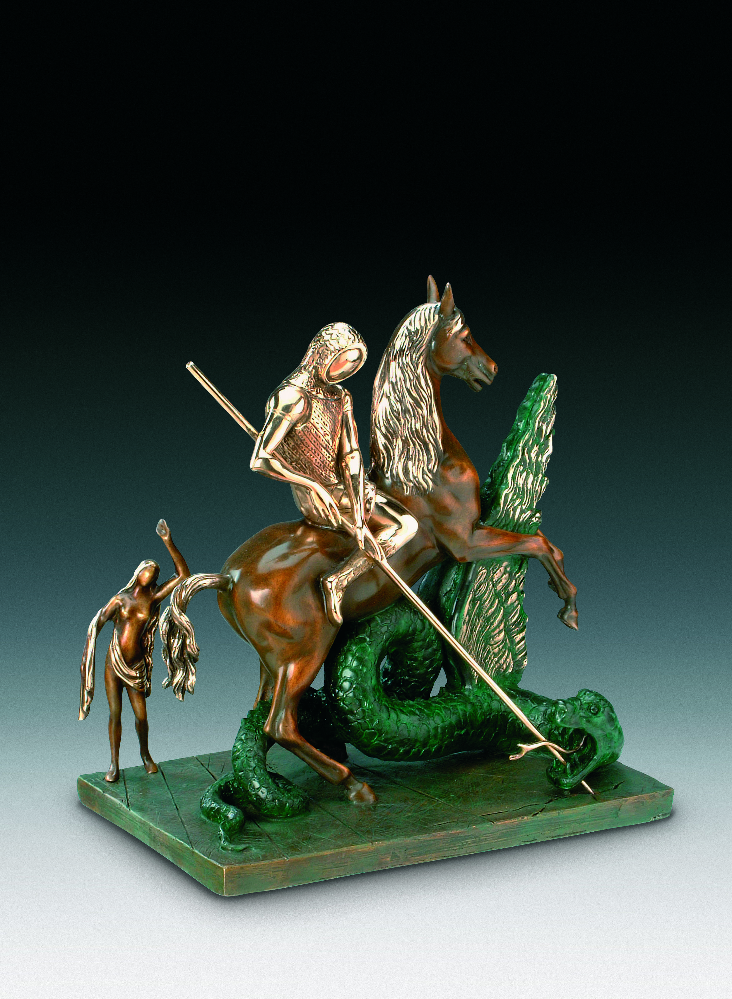 """""""St George And The Dragon Sculpture"""" by Salvador Dali © I.A.R Art Resources"""