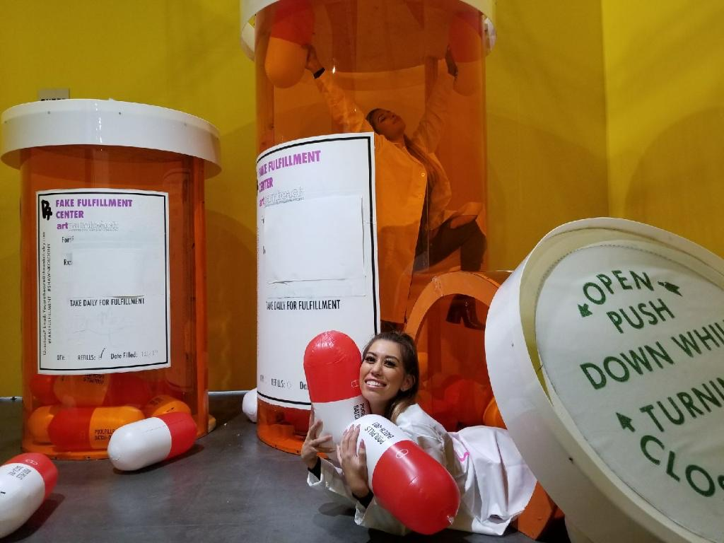 Shawn Kolodny pill bottle installation. A limited edition print will be released after the festival through Monsieur Marcel.