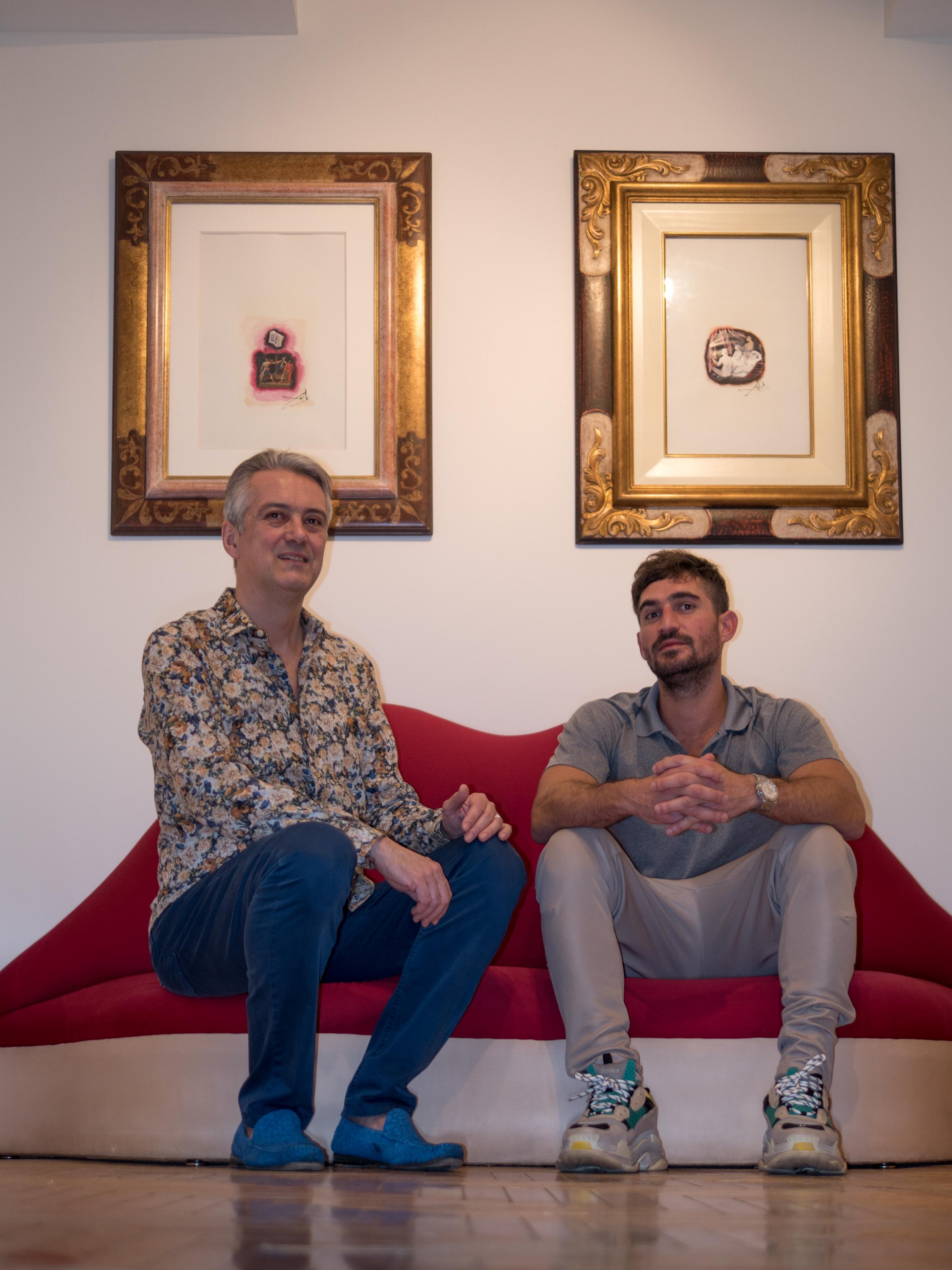 Marcel Katz with Bertrand Epaud of the Dali Universe. Photo by Peter Koliaff.