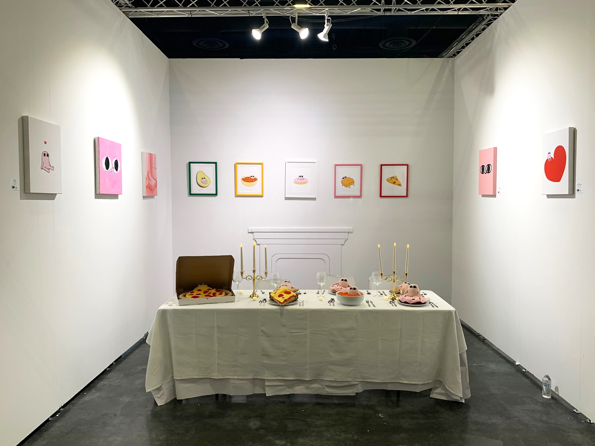 Ketnipz' original paintings and limited edition prints exhibited at Art Palm Beach 2019