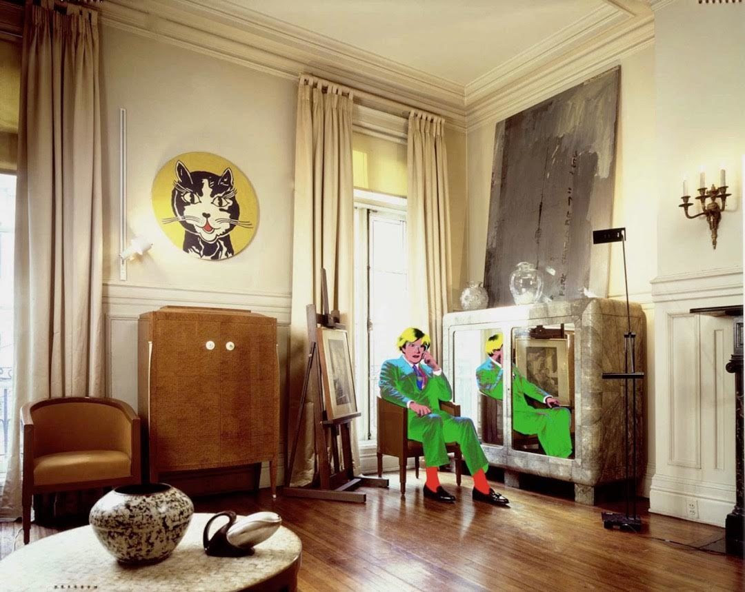 """Andy Warhol's Living Room"" (1987) by David Gamble"