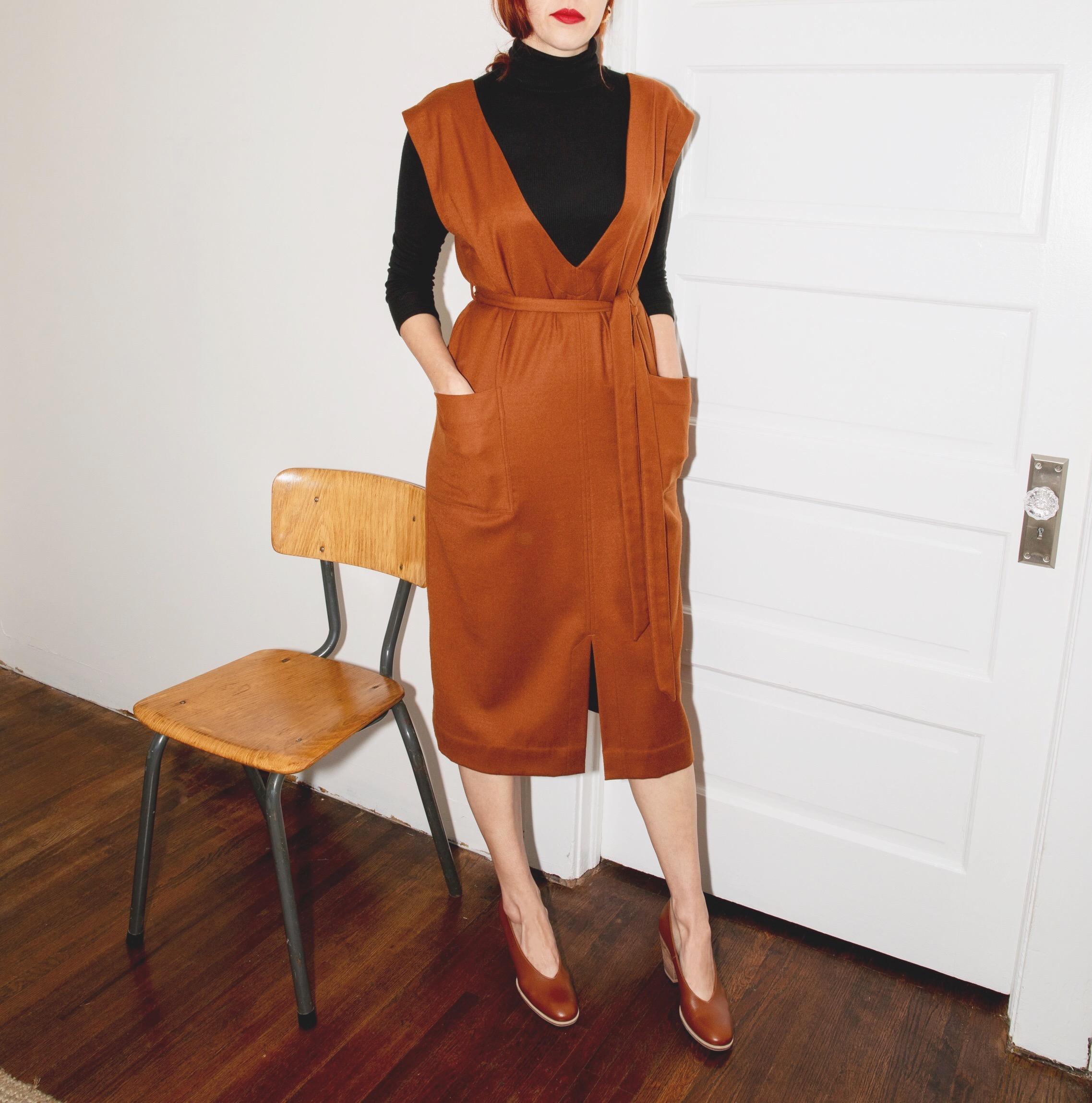 The Studio Dress in Rust