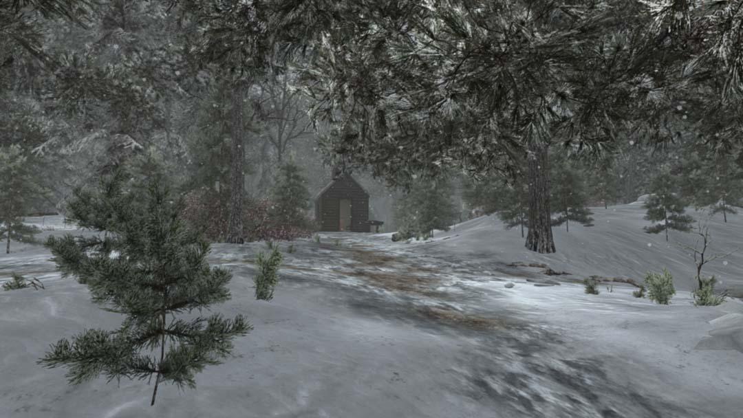 Early Winter Cabin in Snowfall.jpg