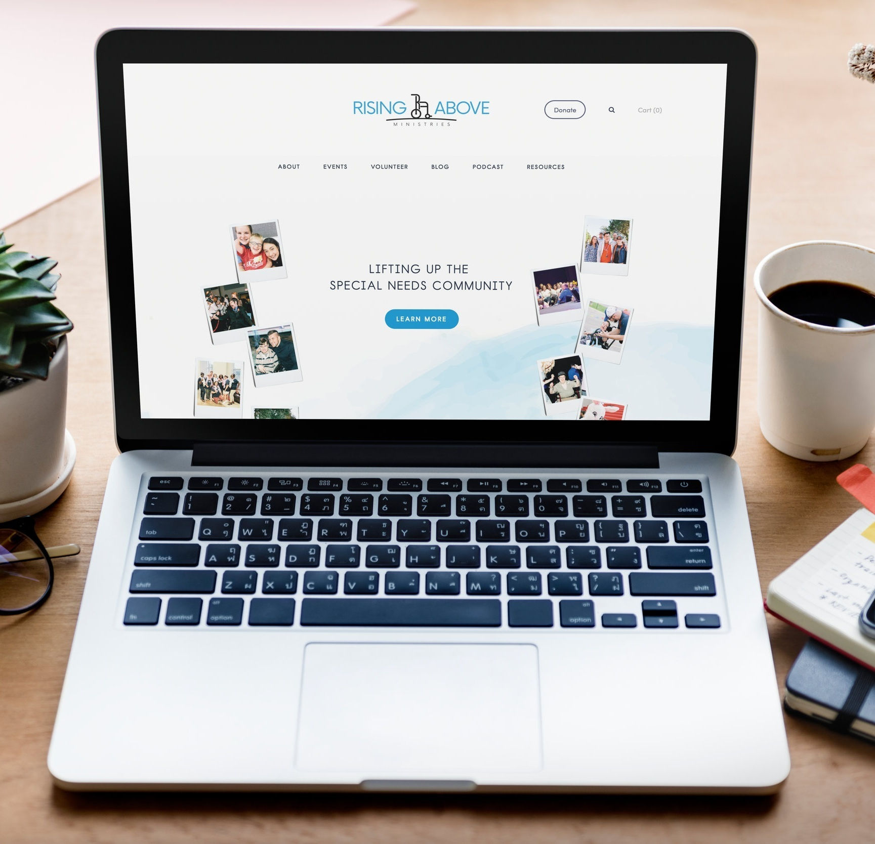 Rising Above Ministries    Website Design
