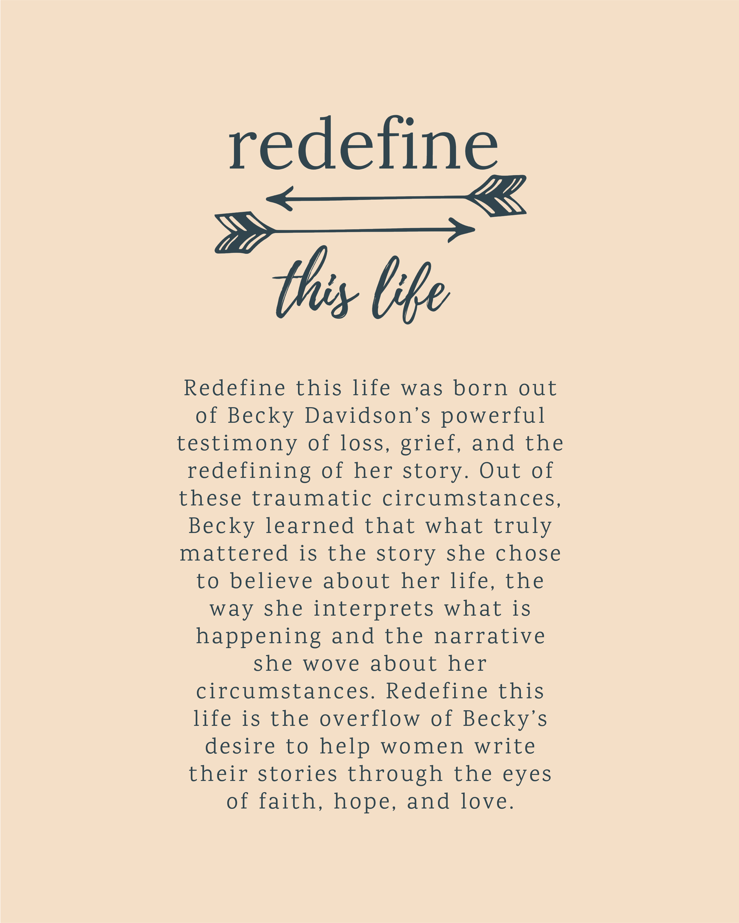 Redefine This Life Becky Davidson