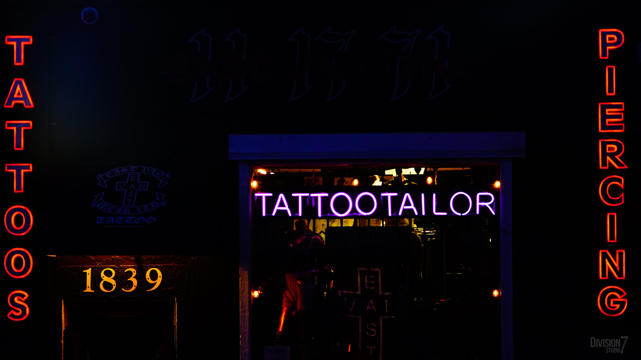 I suppose it's a good thing this tattoo parlour (located right next to a pub) was closed on Saint Patrick's Day.