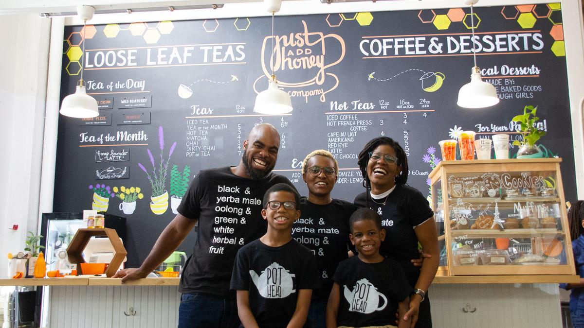 Brandi + Jermail Shelton Founders of Just Add Honey Tea Company