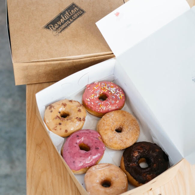 Revolution Doughnuts & Coffee - We have the pleasure of being sponsored for these gatherings by Revolution Doughnuts & Coffee.These all natural, and hand crafted doughnuts have received national recognition, multiple accolades, and have the locals in lines wrapped around the building every weekend.
