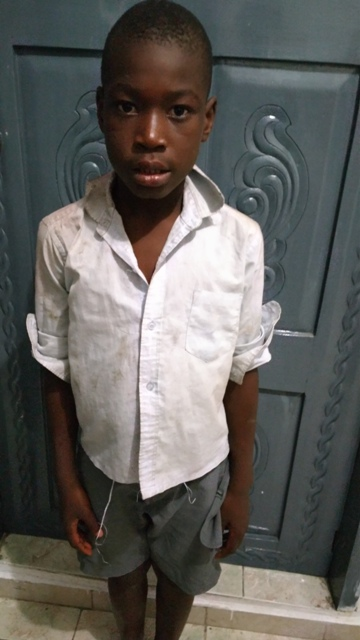 Mélano - Mélano is a 10 year old boy living in the orphanage. He was brought to us by the Haitian police representatives. He was a desperate child and used to live in the streets prior to his meeting with the Haitian welfare agents. He now has access to the basic necessities and has a bright future ahead of him.