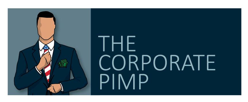First and original logo of The Corporate Pimp (2015)