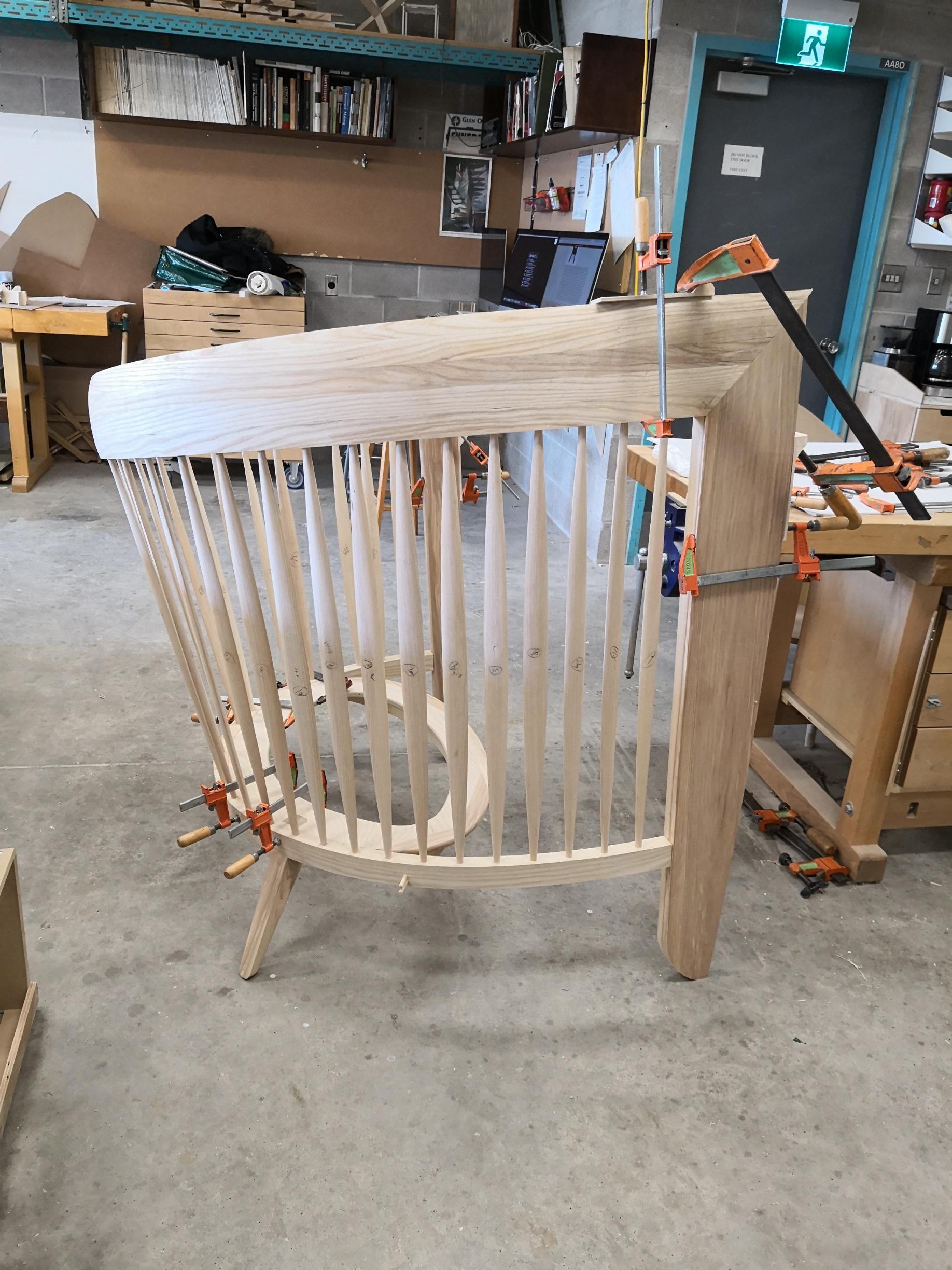 Dry fitting front legs with joinery