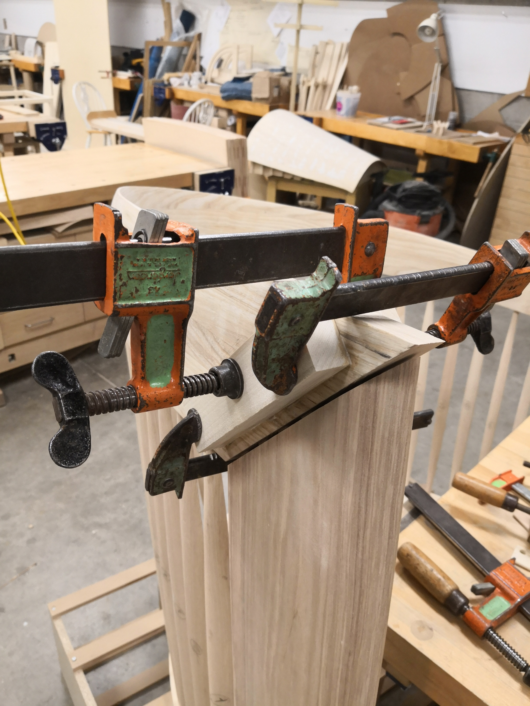 Gluing up stock for final glue up