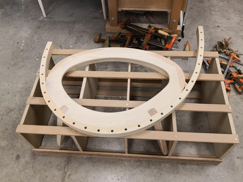 Bottom structure glued up