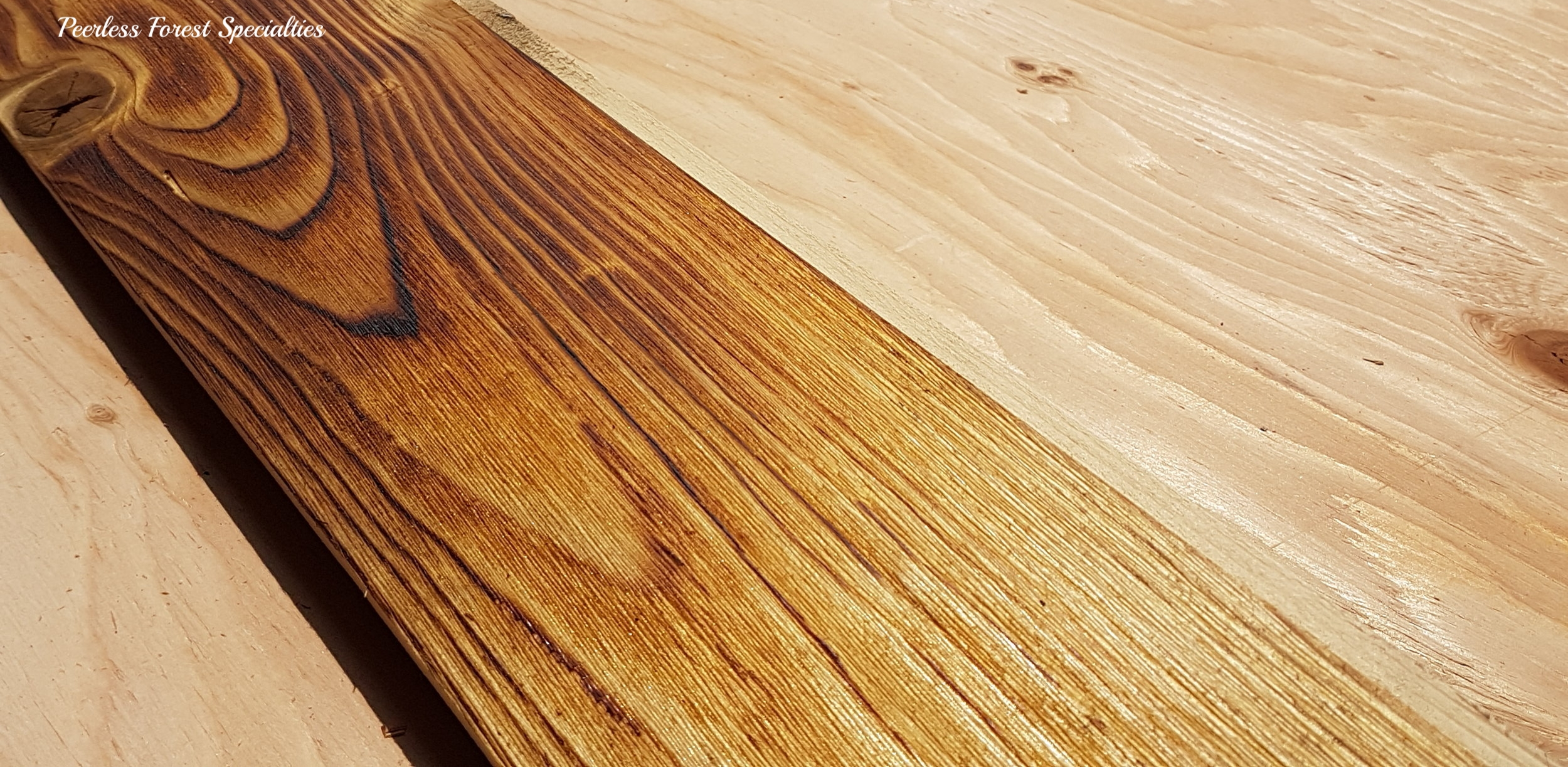 Canadian Shou Sugi Ban Brushed Pine