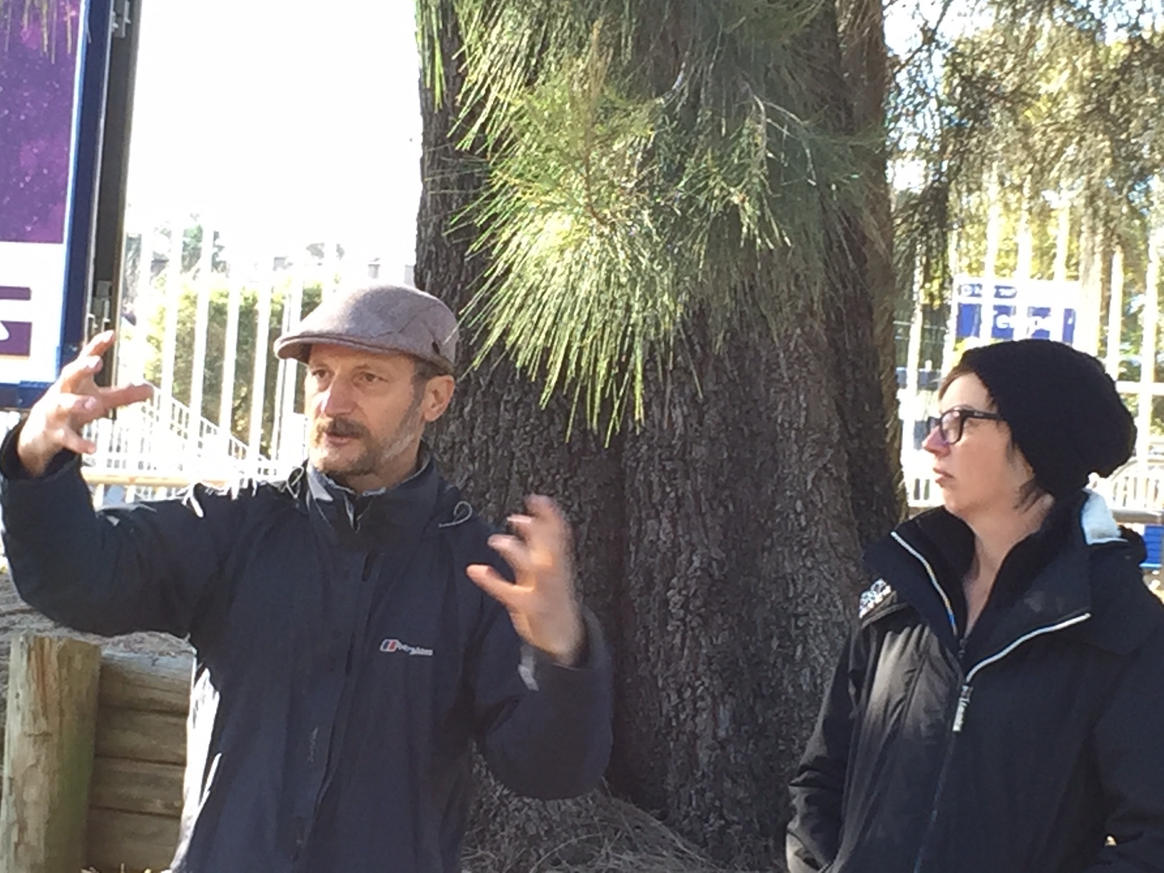 Diego and Kate holding a joint foraging workshop in Tempe NSW