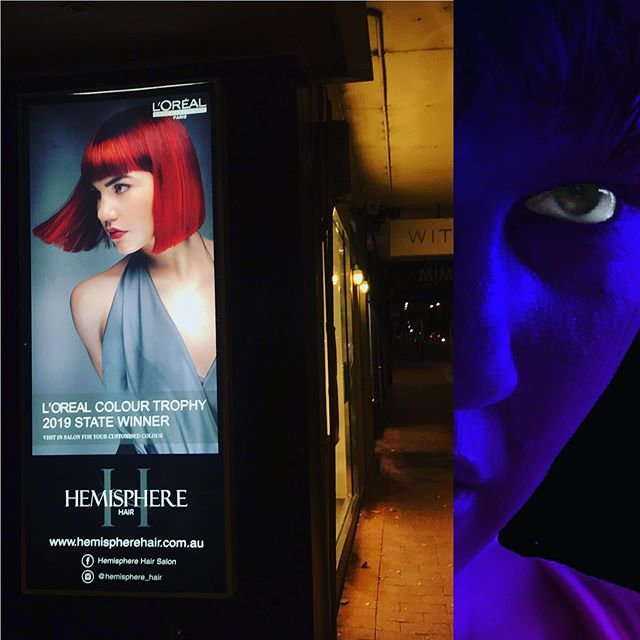 Walking down Beaufort St this evening and just happened to spot this poster of Robyn, the incredible dancer who stars in the video for my new song 'In Shadow'... crushing it with @loreal as you do. Wait til you see how @jacksonchristopherheeley @tyo_beats @clawdi transformed her completely 👻 🤯 Fri July 12 #newmusic #musicvideo