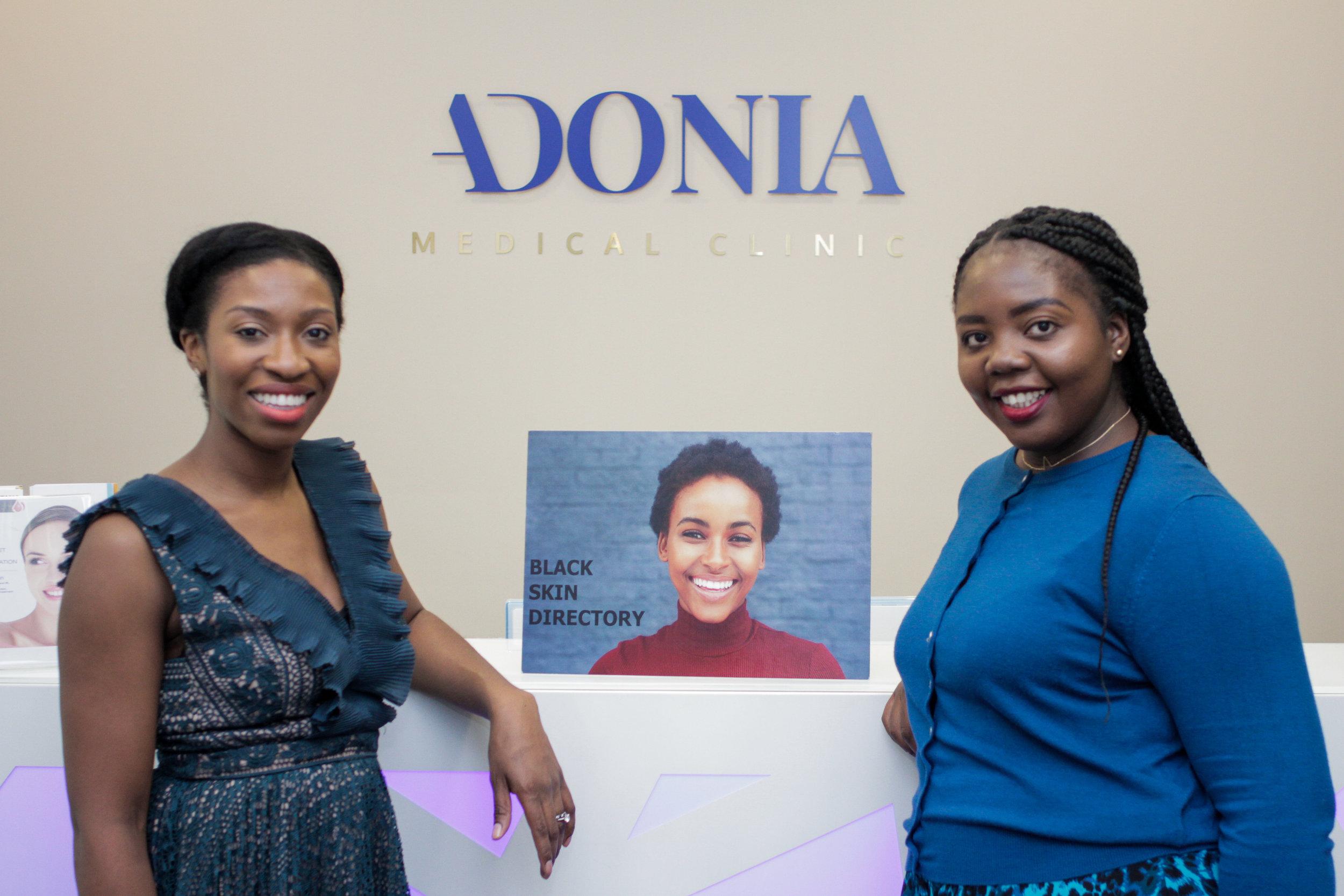 Clinical Director of Adonia Medical - Dr Ifeoma Ekijeme and Founder of Black Skin Director - Dija Ayodele