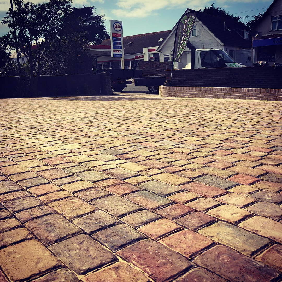 The stunning Brett regatta block in Autumn gold used when we installed this driveway in Bognor Regis West Sussex.