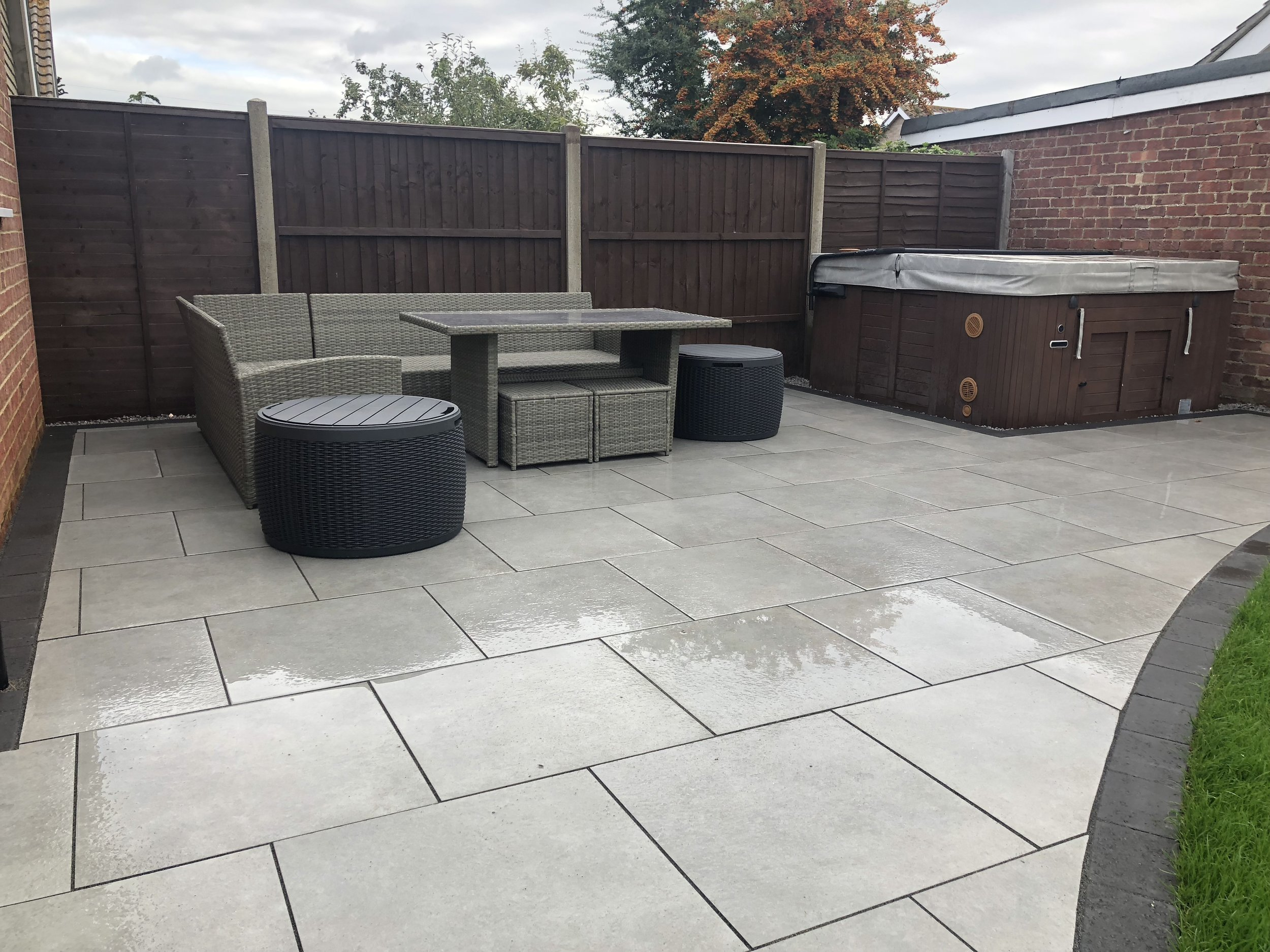 Silver Moon Porcelain paving laid in Bognor Regis West Sussex