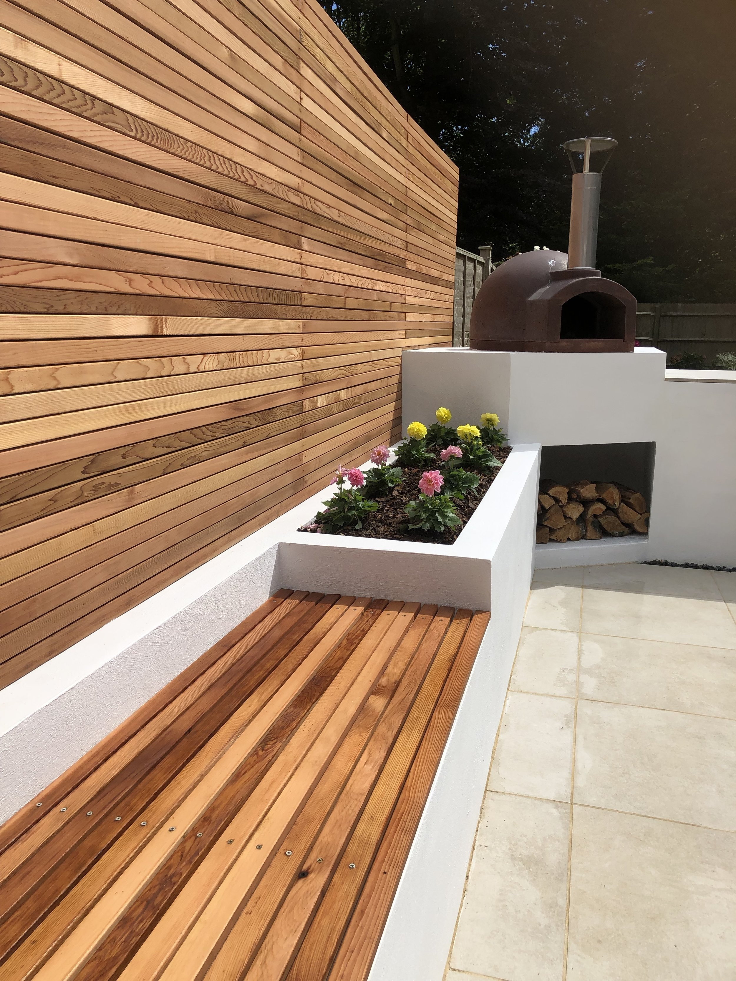 Cedar strip fencing to give a stunning finish,
