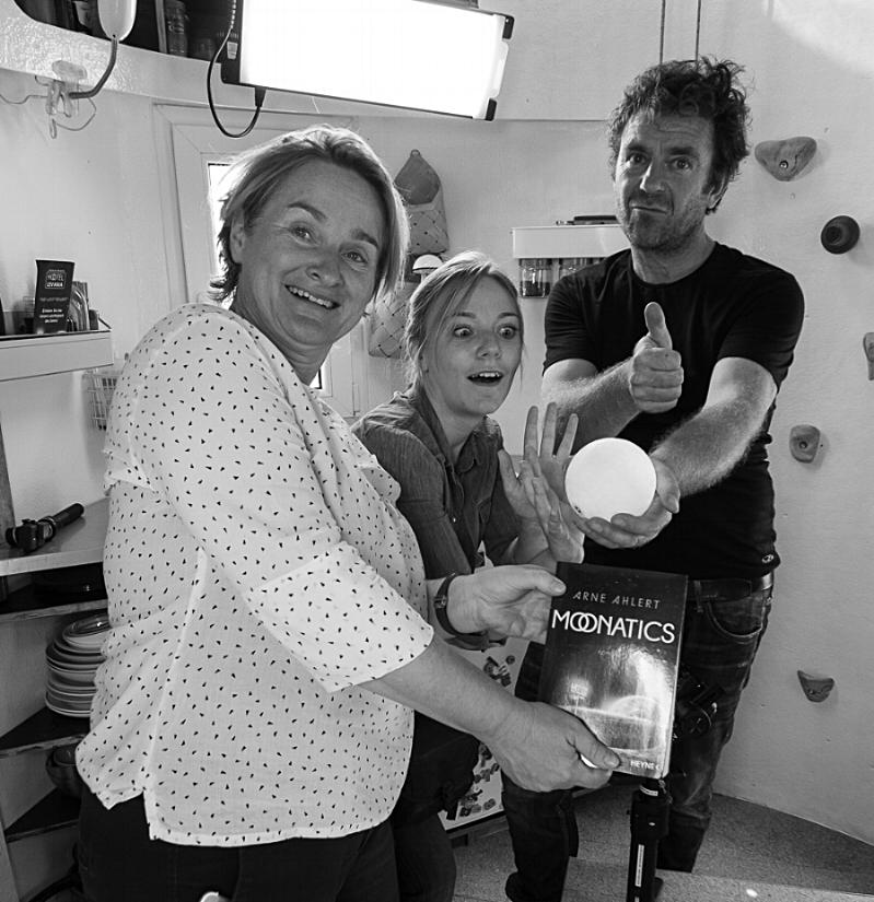 The wonderful crew from Gruppe 5 Produktion: Eva, Meike + Steffen