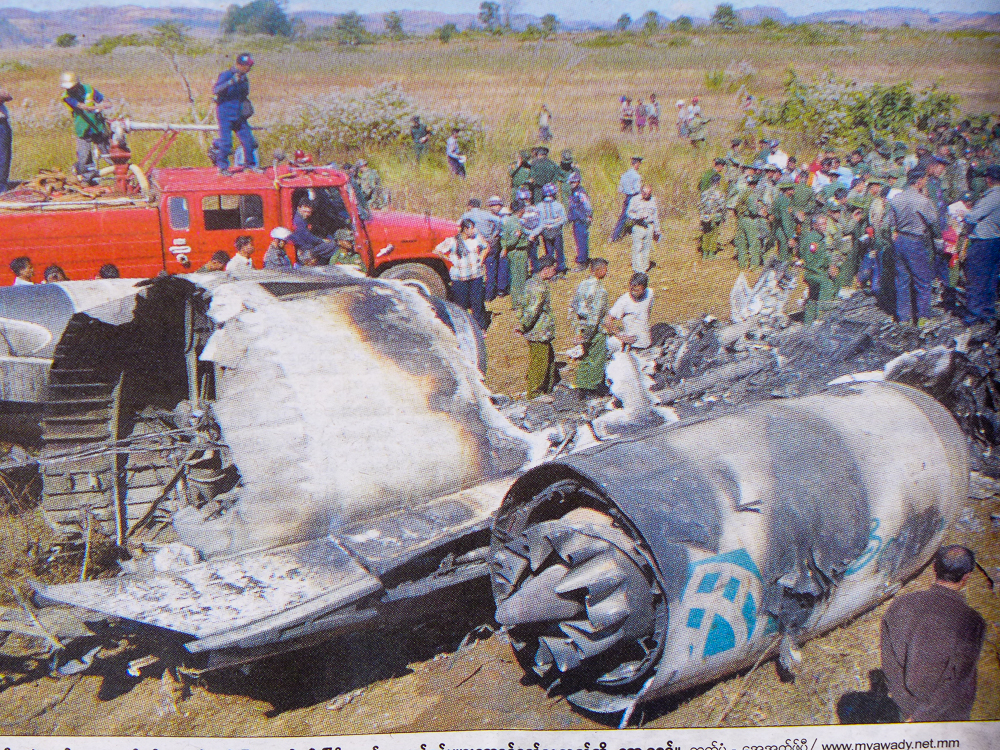 The same flight from Yangon to Kyaing Tong by Air Bagan, the day before, Dec 25 - had crashed, just before landing. That was the flight I had almost taken …  The photos shown are from the national newspaper, The New Light of Myanmar, which was handed out to the passengers during our flight. I am sure we all had the same thought: What are the chances of the same flight crashing on two consecutive days…?