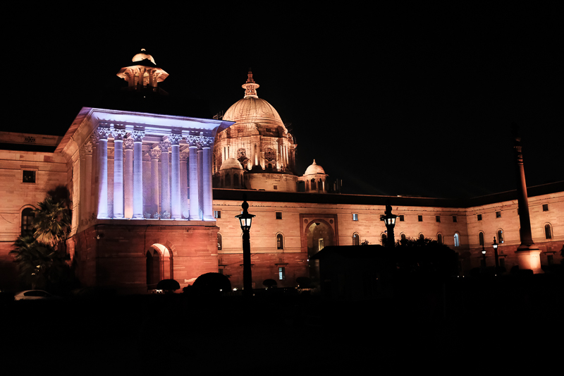 New Delhi, for a change. This is the government district at night.