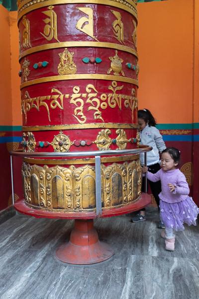 In the Tibetan village, a neighborhood near the river