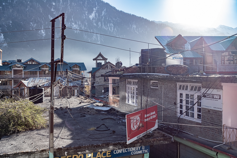 The view from my room in OId Manali. Lovely, especially after the hustle of Delhi.