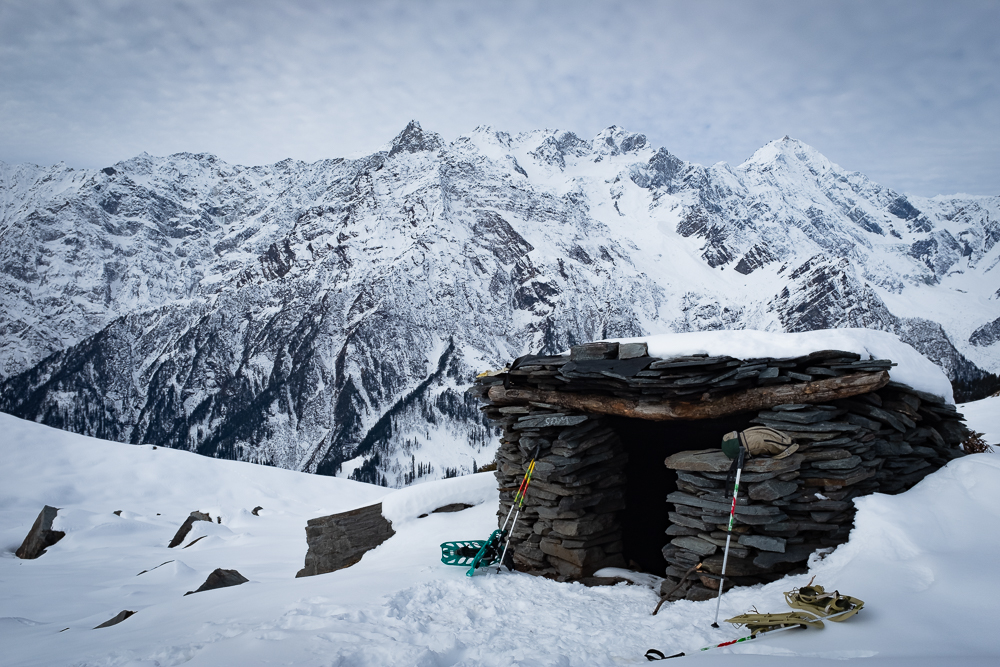 A shepherds shelter at around 3900m, on the way up.