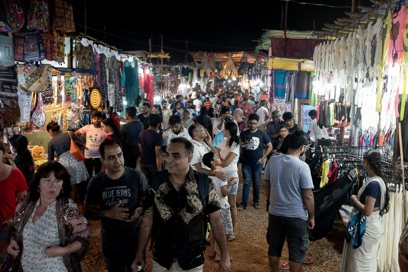 The weekly night market