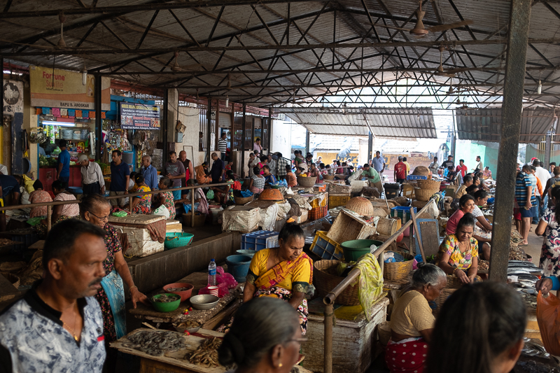 A market in a nearby town