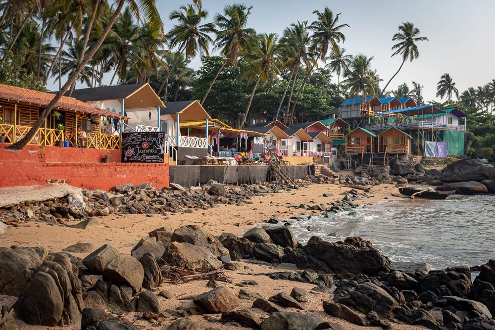 Colomb Beach, situated between Palolem and Patnem.