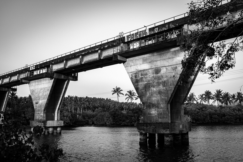 The already existing railway bridge.