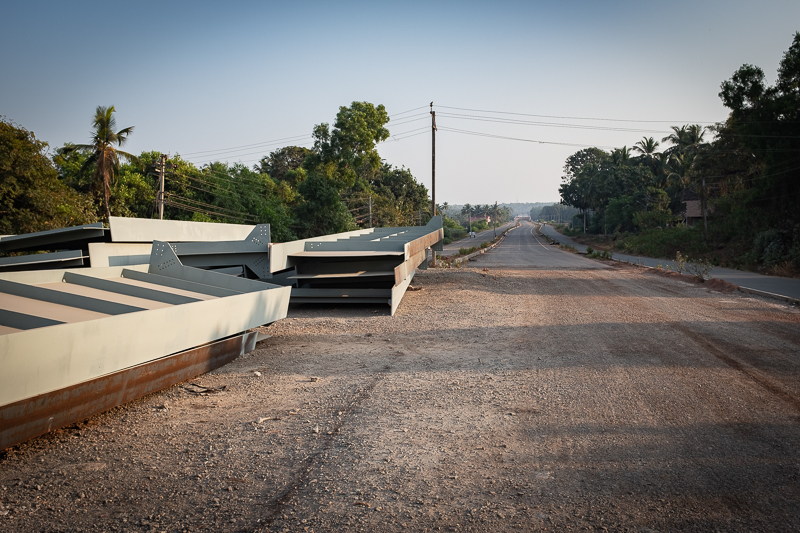 The new road is coming … just a hundred meters away from the beach.