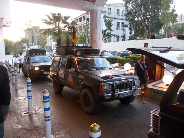 Ankunft an unserem Damaszener Hotel.