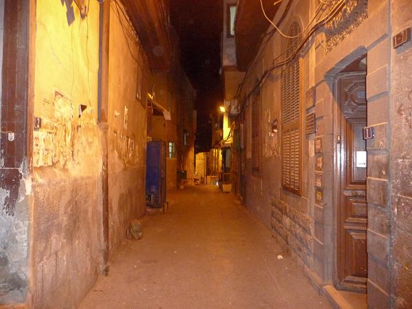 Ansonsten sah das Ausgehviertel von Damaskus im Wesentlichen so aus.