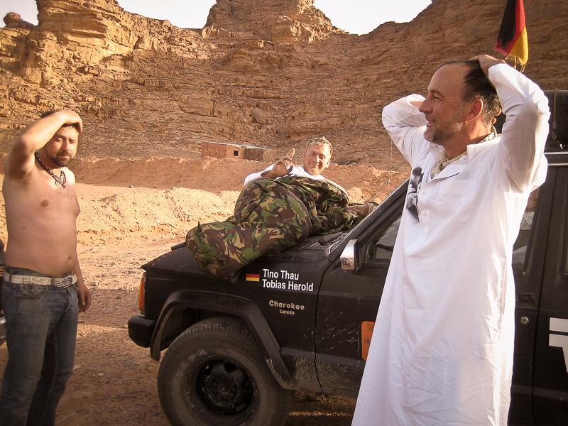 Morgens im Wüstencamp