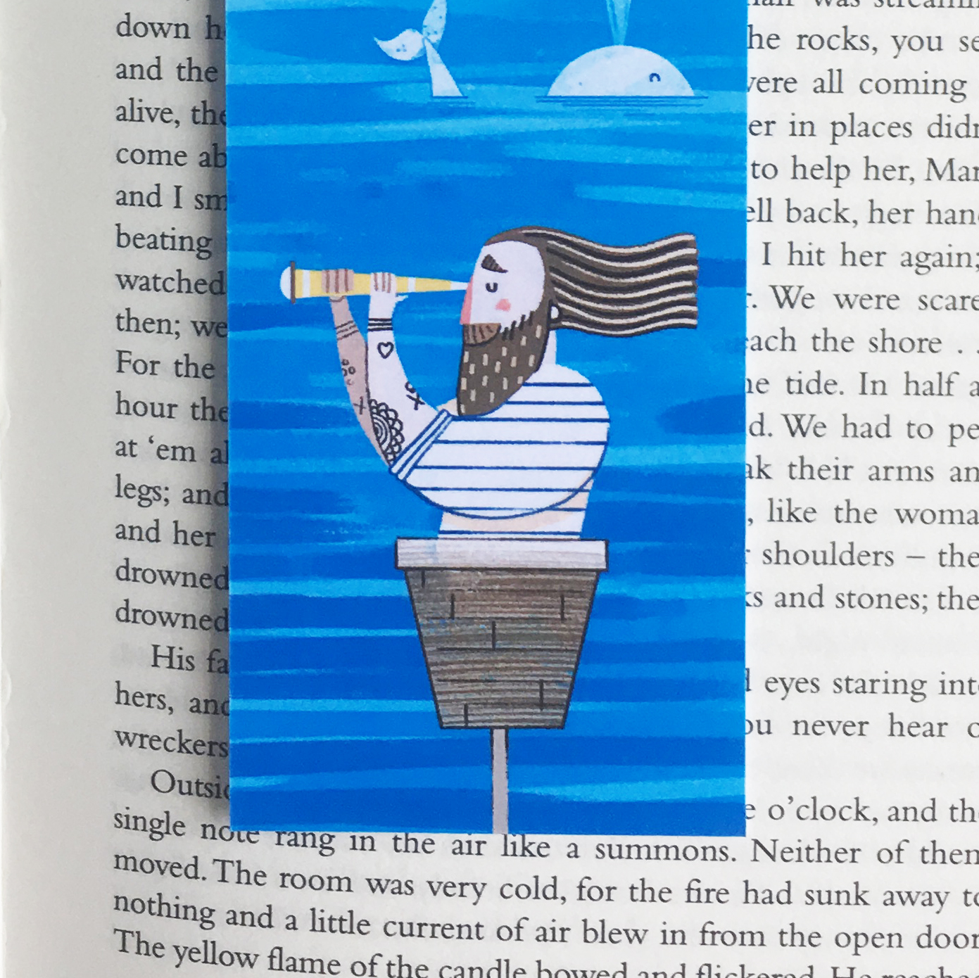 Bookmark detail © Jonty Howley Illustration