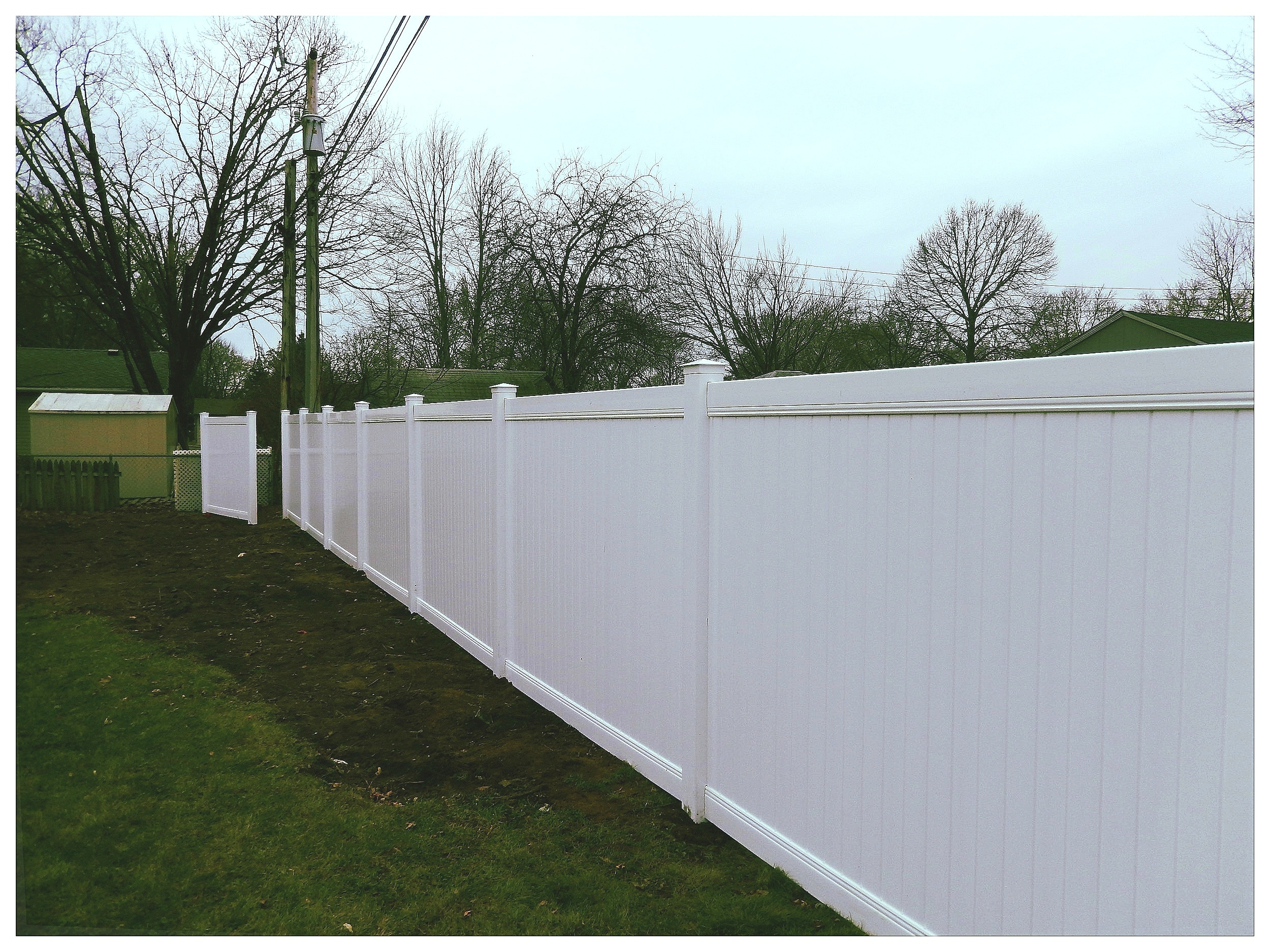 6' High White Privacy (Tongue & Groove)