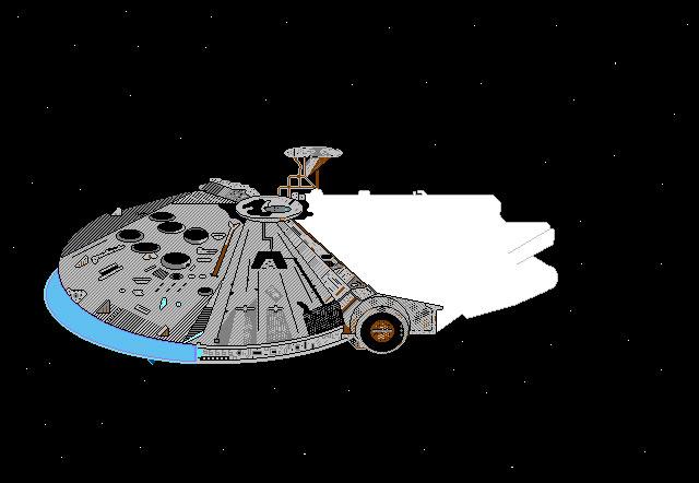 8-bit Millennium Falcon (unfinished).