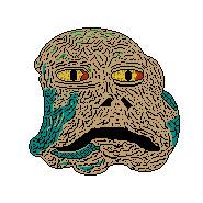 8-bit Jabba the Hut artwork.