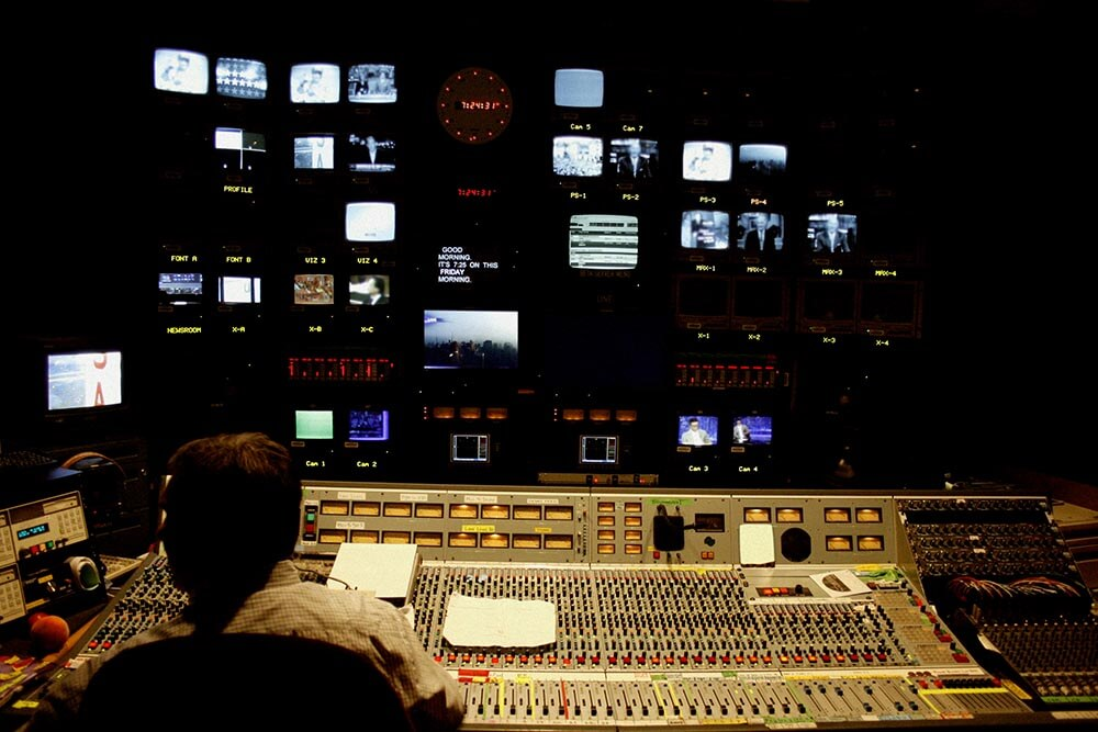 Television Control Room Stock Photo by John W. DeFeo