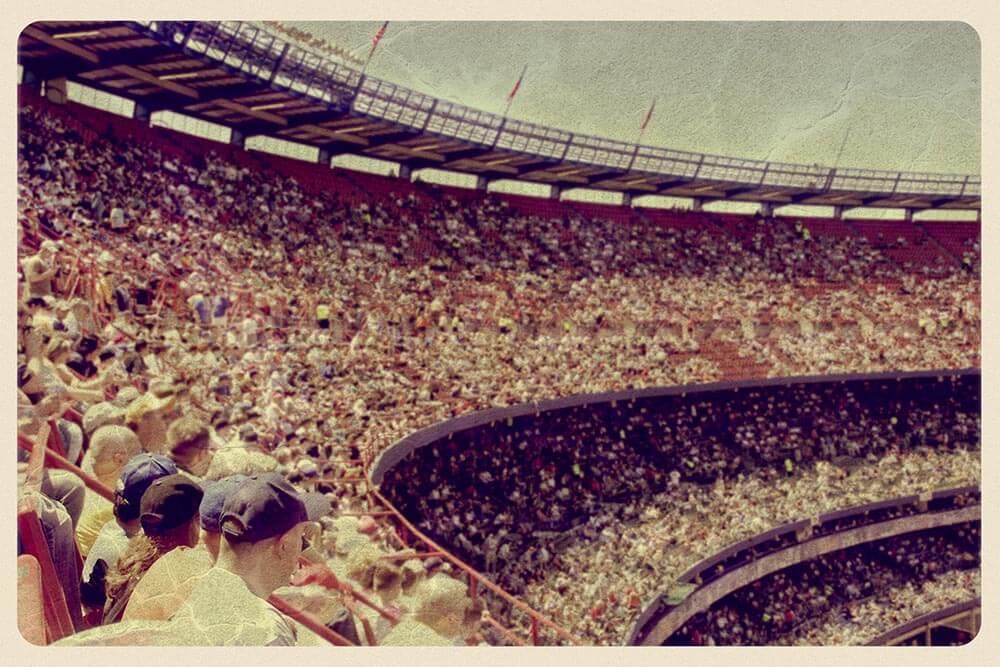 Vintage Stadium Postcard by John W. DeFeo