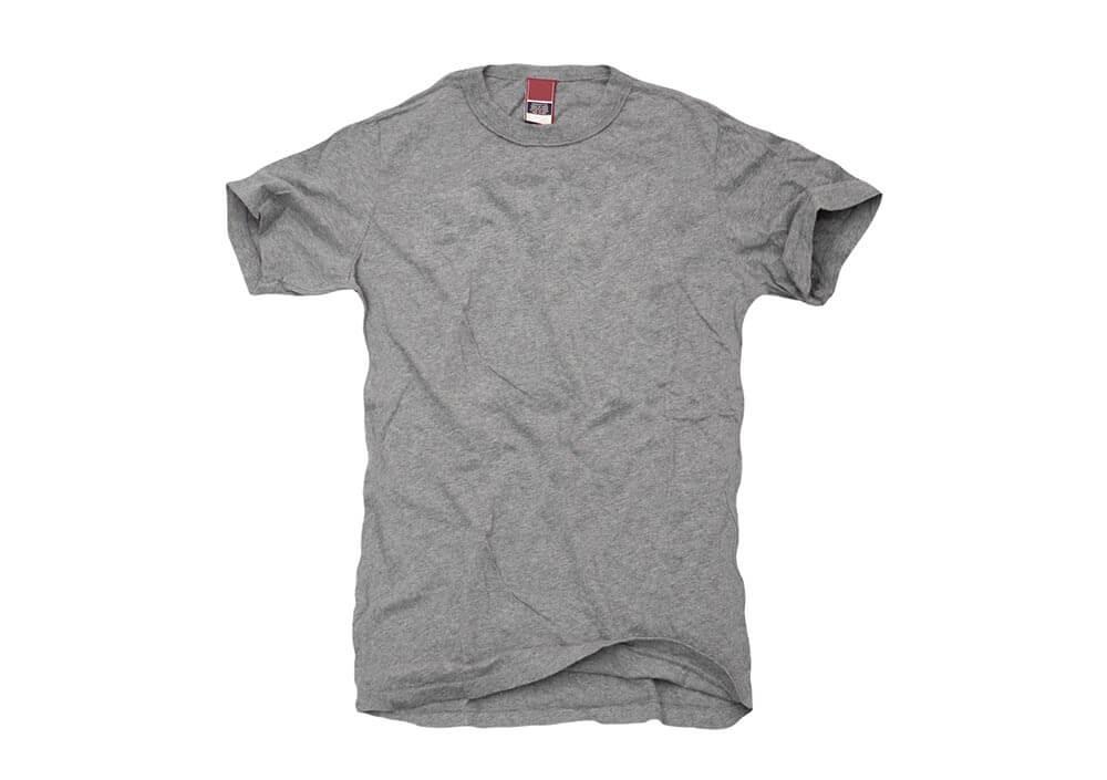 Grey Tee Shirt on White Stock Photo by John W. DeFeo