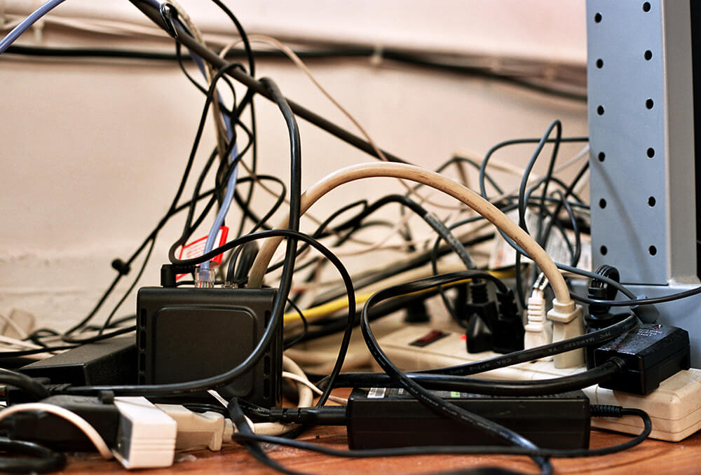 Tangled Wires Stock Photo by John W. DeFeo
